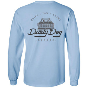 Dusty Dog gray logo 2-sided print G240 Gildan LS Ultra Cotton T-Shirt