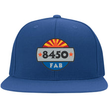 Load image into Gallery viewer, 8450 embroidered logo 6297F Flat Bill Fulback Twill Flexfit Cap
