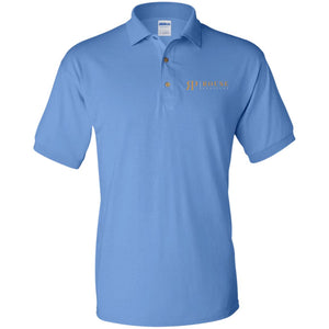 Rouse Projects - Gold & Silver embroidered G880 Gildan Jersey Polo Shirt