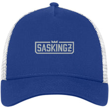 Load image into Gallery viewer, SASKINGZ silver embroidered logo NE205 New Era® Snapback Trucker Cap