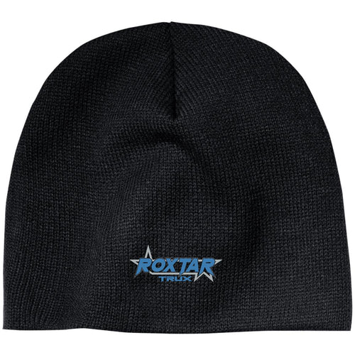 Roxtar Trux blue and silver embroidered logo CP91 100% Acrylic Beanie