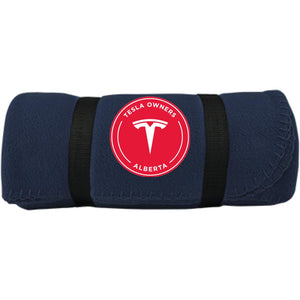 Tesla Owners Club of Alberta BP10 Port & Co. Fleece Blanket