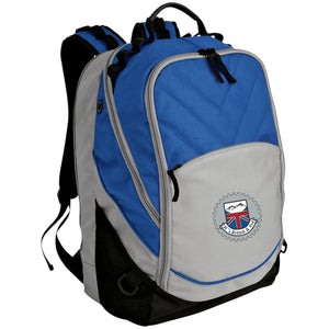 JC's British silver embroidered logo BG100 Port Authority Laptop Computer Backpack