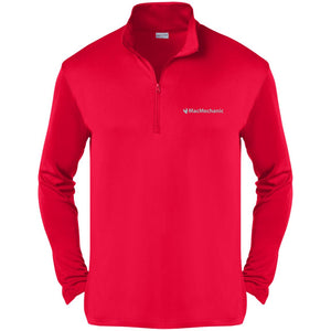 MacMechanic silver embroidered logo ST357 Sport-Tek Competitor 1/4-Zip Pullover