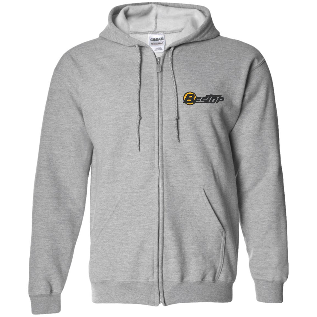 Bestop embroidered G186 Zip Up Hooded Sweatshirt