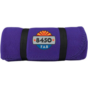 8450 embroidered logo BP10 Port & Co. Fleece Blanket