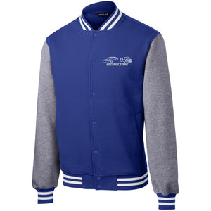 High Octane white & silver embroidered logo ST270 Sport-Tek Fleece Letterman Jacket