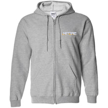 Load image into Gallery viewer, MOORE embroidered logo G186 Gildan Zip Up Hooded Sweatshirt
