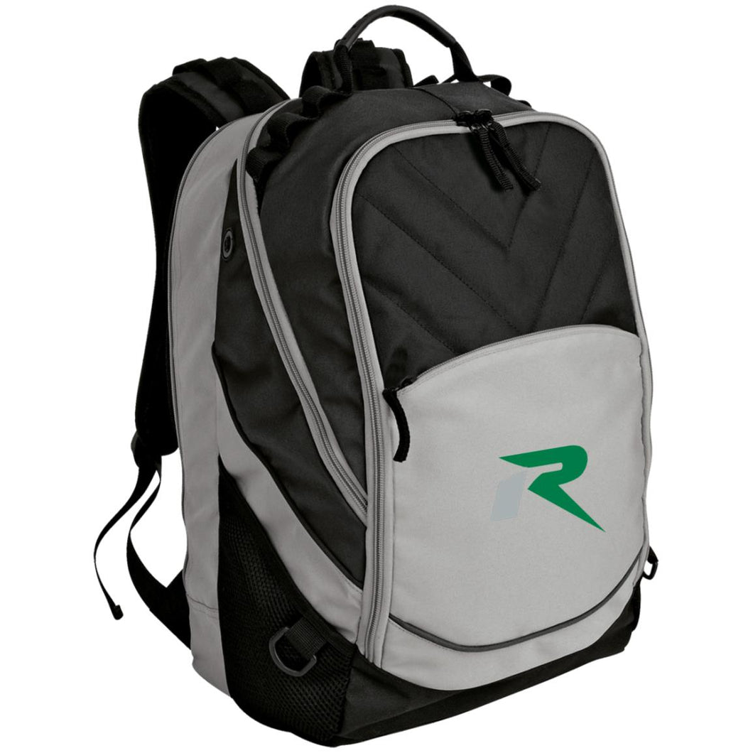 R silver & green embroidered BG100 Port Authority Laptop Computer Backpack