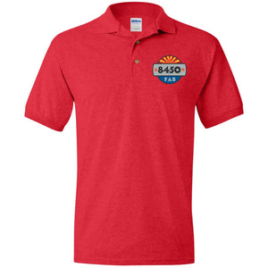 8450 embroidered logo G880 Gildan Jersey Polo Shirt