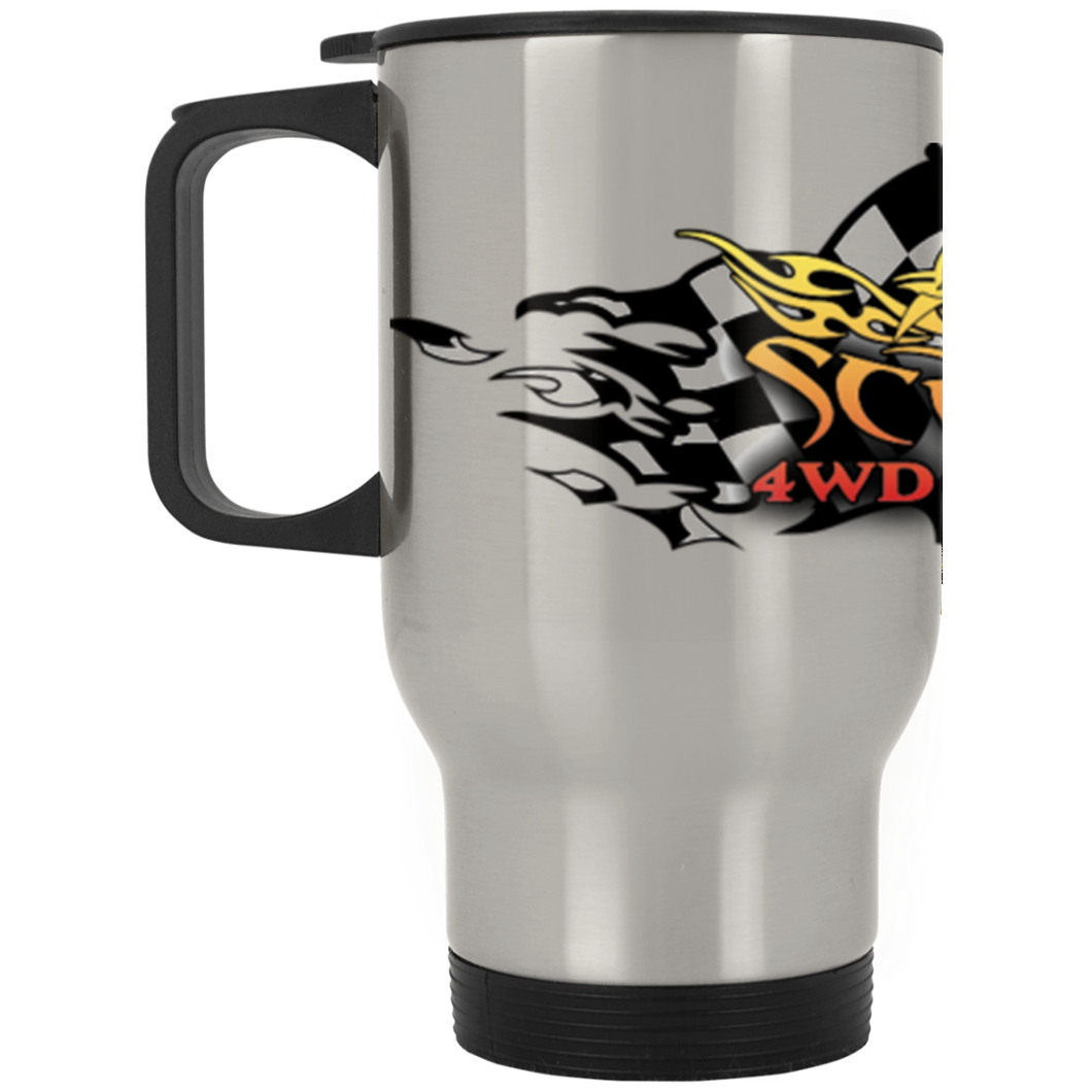 Scorpion full wrap-around logo XP8400S Silver Stainless Travel Mug