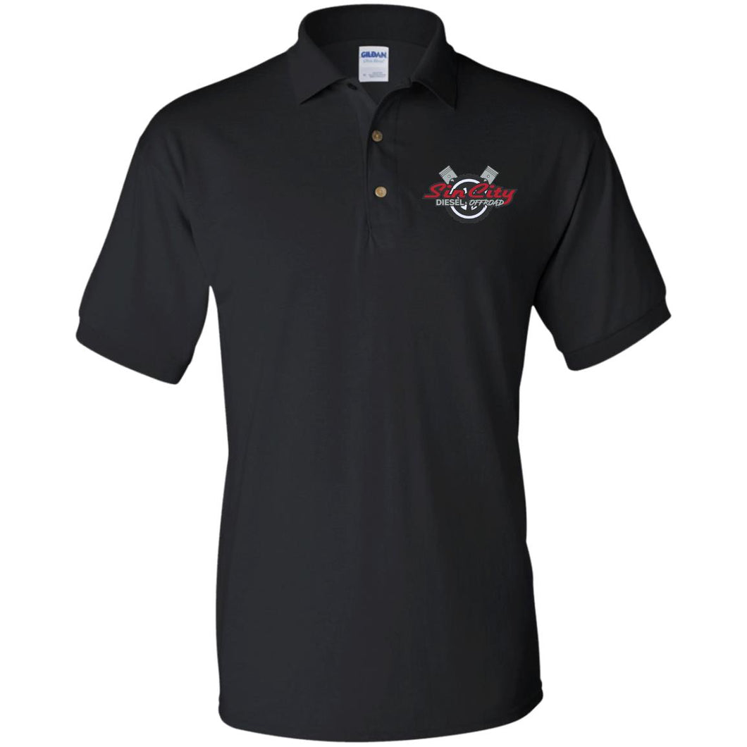 Sin City embroidered G880 Gildan Jersey Polo Shirt