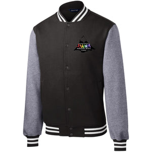 CO Springs Home School Sports League embroidered logo ST270 Sport-Tek Fleece Letterman Jacket