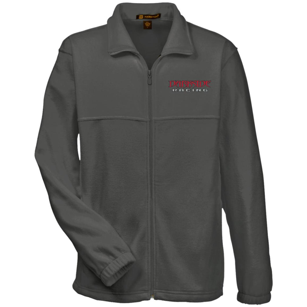 Dark Side Racing red. black & silver embroidered M990 Harriton Fleece Full-Zip