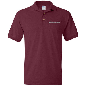 MacMechanic silver embroidered logo G880 Gildan Jersey Polo Shirt