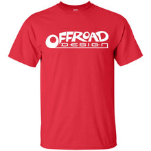 Load image into Gallery viewer, Offroad Design white logo G200B Gildan Youth Ultra Cotton T-Shirt
