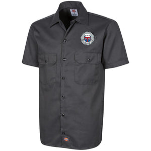 JC's British silver embroidered logo 1574 Dickies Men's Short Sleeve Workshirt