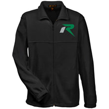 Load image into Gallery viewer, R silver & green embroidered M990 Harriton Fleece Full-Zip