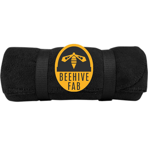Beehive FAB embroidered logo BP10 Port & Co. Fleece Blanket