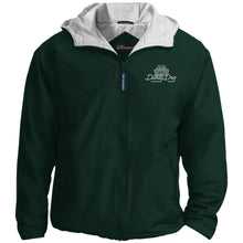 Load image into Gallery viewer, Dusty Dog silver embroidered logo JP56 Port Authority Team Jacket