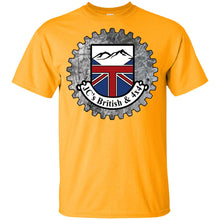 Load image into Gallery viewer, JC's British round logo G200B Gildan Youth Ultra Cotton T-Shirt