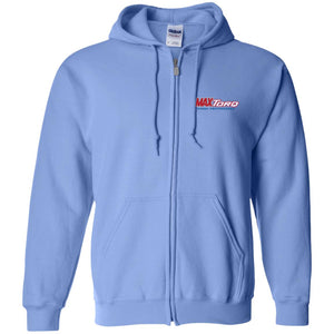 MaxTorq embroidered logo G186 Gildan Zip Up Hooded Sweatshirt