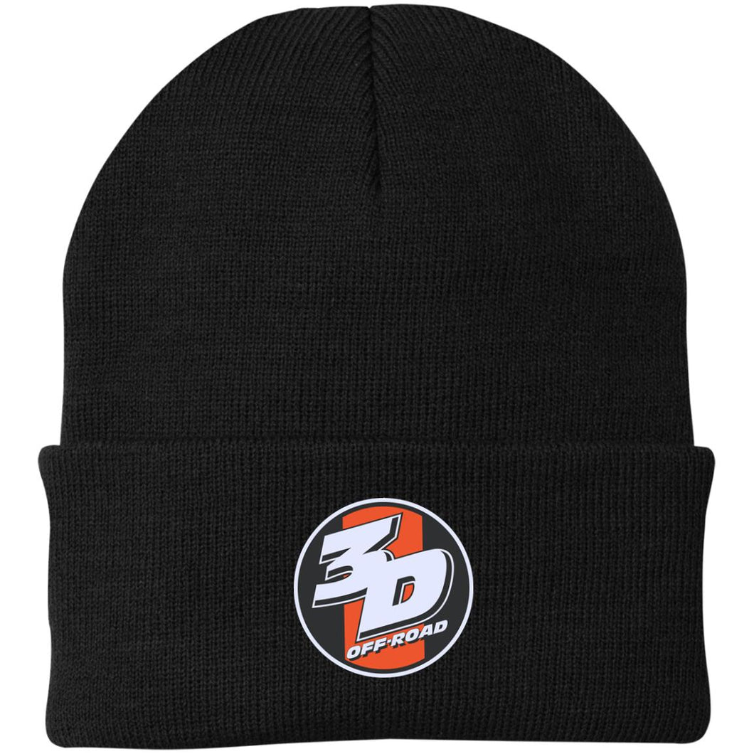 3D Offroad embroidered CP90 Port Authority Knit Cap