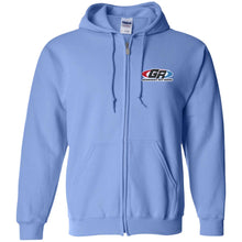 Load image into Gallery viewer, GenRight embroidered logo G186 Gildan Zip Up Hooded Sweatshirt
