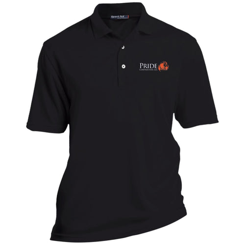 Pride white and orange embroidered logo TK469 TALL Dri-Mesh Short Sleeve Polo