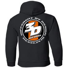 Load image into Gallery viewer, 3D Offroad 2-sided print G185B Gildan Youth Pullover Hoodie