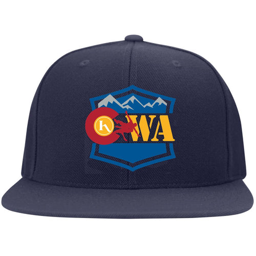 CWA embroidered logo 6297F Flat Bill Fulback Twill Flexfit Cap