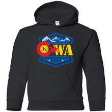 Load image into Gallery viewer, Colorado Wrestling Academy 2-sided print G185B Gildan Youth Pullover Hoodie