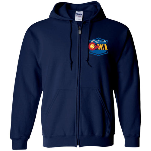 CWA embroidered logo G186 Gildan Zip Up Hooded Sweatshirt
