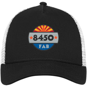 8450 embroidered logo NE205 New Era® Snapback Trucker Cap