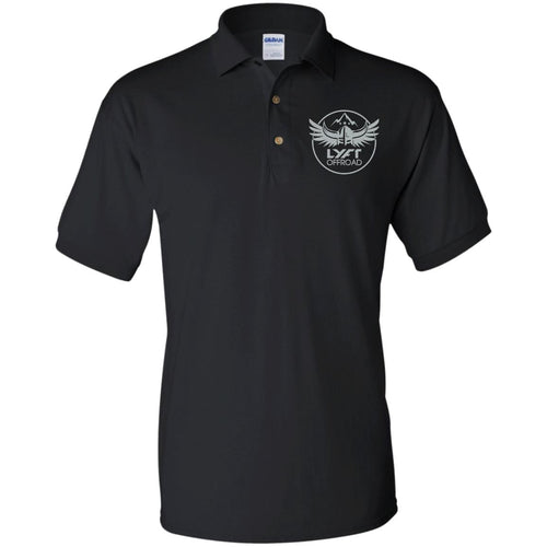Lyft Off Road silver embroidered G880 Gildan Jersey Polo Shirt