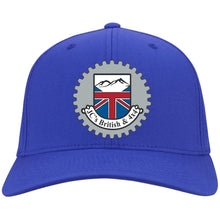 Load image into Gallery viewer, JC's British silver embroidered logo C813 Port Authority Flex Fit Twill Baseball Cap