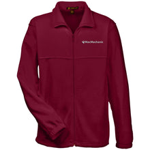 Load image into Gallery viewer, MacMechanic silver embroidered logo M990 Harriton Fleece Full-Zip