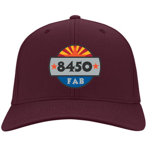 8450 embroidered logo C813 Port Authority Flex Fit Twill Baseball Cap