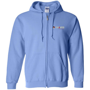Drives at Mile High embroidered logo G186 Gildan Zip Up Hooded Sweatshirt