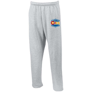 CWA embroidered logo G123 Gildan Open Bottom Sweatpants with Pockets