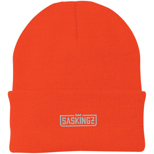 SASKINGZ silver embroidered logo CP90 Port Authority Knit Cap