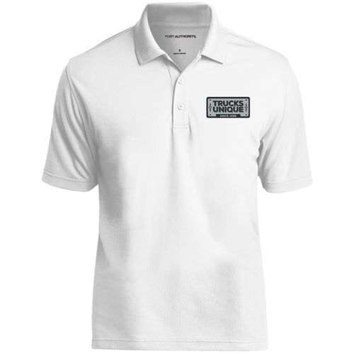 Trucks Unique black & silver embroidered logo K110 Port Authority Dry Zone UV Micro-Mesh Polo