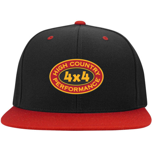 High Country original embroidered logo STC19 Sport-Tek Flat Bill High-Profile Snapback Hat