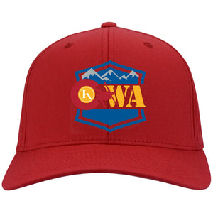 CWA embroidered logo C813 Port Authority Flex Fit Twill Baseball Cap