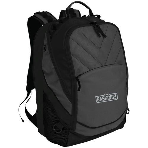 SASKINGZ silver embroidered logo BG100 Port Authority Laptop Computer Backpack