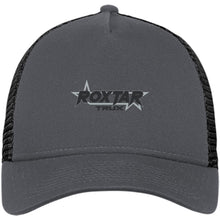 Load image into Gallery viewer, Roxtar Trux black and silver embroidered logo NE205 New Era® Snapback Trucker Cap