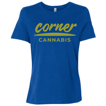 Load image into Gallery viewer, Corner Cannabis B6400 Ladies' Relaxed Jersey Short-Sleeve T-Shirt