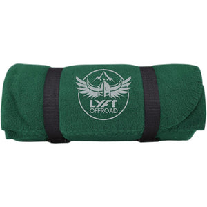 Lyft Off Road silver embroidered BP10 Port & Co. Fleece Blanket