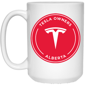 Tesla Owners Club of Alberta 21504 15 oz. White Mug