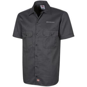 MacMechanic silver embroidered logo 1574 Dickies Men's Short Sleeve Workshirt
